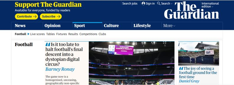 the guardian football